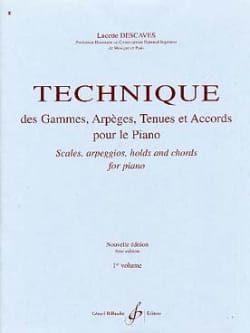 Lucette Descaves - Range and Arpeggio Technique - Volume 1 - Sheet Music - di-arezzo.co.uk