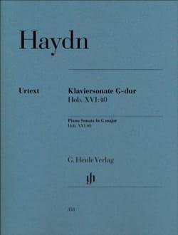 Joseph Haydn - Sonate Pour Piano En Sol Majeur Hob 16:40 - Partition - di-arezzo.fr