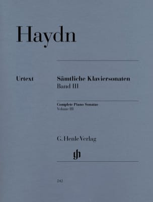 HAYDN - Complete Sonatas Volume 3 - Sheet Music - di-arezzo.co.uk
