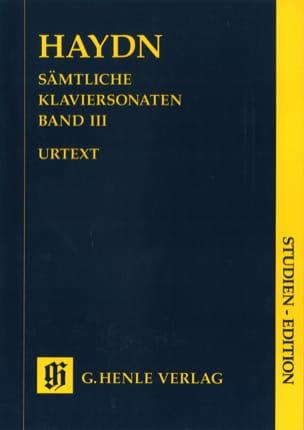HAYDN - Sonatas for piano. Volume 3 - Sheet Music - di-arezzo.com
