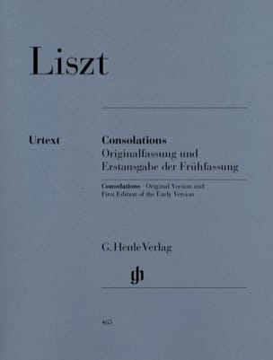 Consolations LISZT Partition Piano - laflutedepan