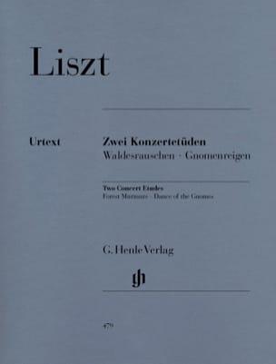 Deux Etudes de Concert LISZT Partition Piano - laflutedepan