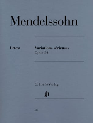 MENDELSSOHN - Serious Variations Opus 54 - Sheet Music - di-arezzo.co.uk