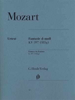 MOZART - Fantasy In D Minor K 397 385g - Sheet Music - di-arezzo.com
