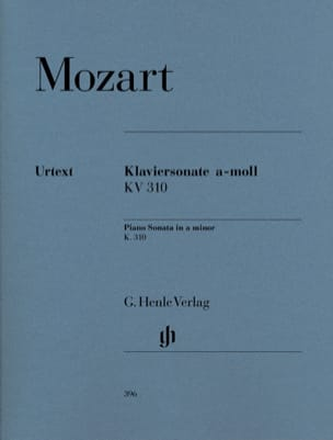 MOZART - Sonata for piano in A minor K. 310 300d - Sheet Music - di-arezzo.co.uk
