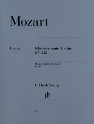 MOZART - Sonata For Piano In C Major K. 545 - Sheet Music - di-arezzo.co.uk