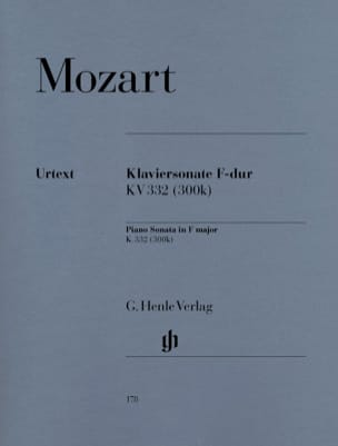 MOZART - Sonate Pour Piano En Fa Majeur K. 332 (300k) - Partition - di-arezzo.fr