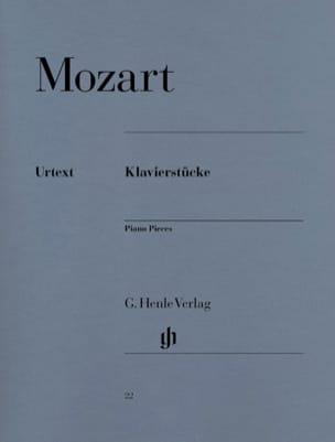 MOZART - Klavierstücke - Partition - di-arezzo.fr