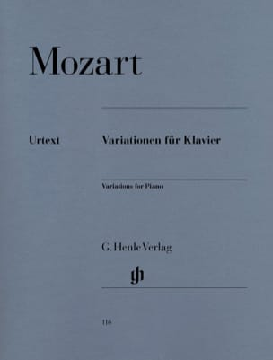 Variations Pour Piano - MOZART - Partition - Piano - laflutedepan.com