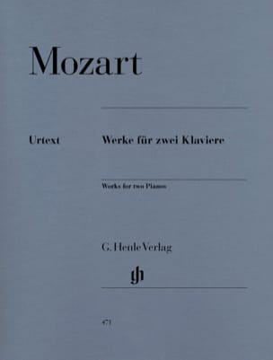 MOZART - Works for 2 Pianos - Sheet Music - di-arezzo.co.uk