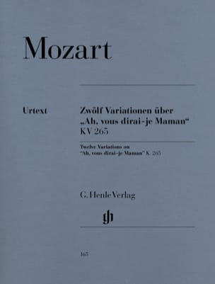 MOZART - 12 Variations on Ah, will you tell me, Mom K 265 300th - Sheet Music - di-arezzo.com