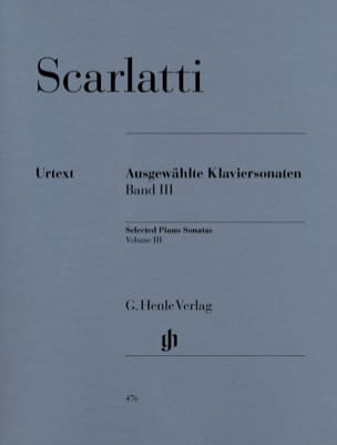 Sonates choisies pour piano. Volume 3 SCARLATTI Partition laflutedepan