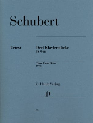 SCHUBERT - 3 Klavierstücke D 946 Aus Dem Nachlass - Partition - di-arezzo.fr