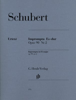 SCHUBERT - Impromptu in E flat major Opus 90-2 D 899 - Sheet Music - di-arezzo.com