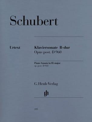 SCHUBERT - Sonate pour piano Si Bémol Majeur D 960 - Partition - di-arezzo.fr