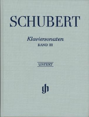 Franz Schubert - Sonates Pour Piano, Volume 3 - Edition Reliée - Partition - di-arezzo.fr