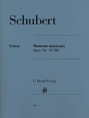 Moments Musicaux D 780 Opus 94 SCHUBERT Partition Piano - laflutedepan