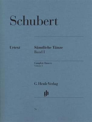 SCHUBERT - Sämtliche Tänze. Volume 1 - Sheet Music - di-arezzo.co.uk