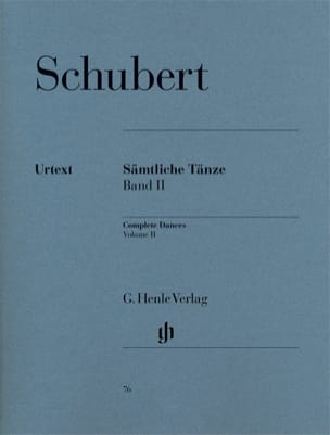 SCHUBERT - Sämtliche Tänze. Volume 2 - Sheet Music - di-arezzo.co.uk