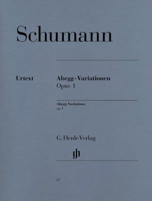 SCHUMANN - Abegg-Variationen Opus 1 - Partition - di-arezzo.fr