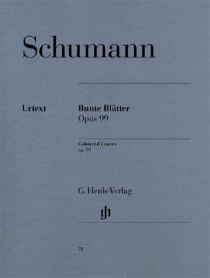 SCHUMANN - Bunte Blätter Opus 99 - Sheet Music - di-arezzo.co.uk