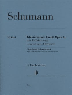 SCHUMANN - Great Sonata Concert Without Orchestra Opus 14 - Sheet Music - di-arezzo.com