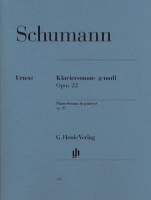 SCHUMANN - Sonata for piano in G minor Opus 22 - Sheet Music - di-arezzo.com