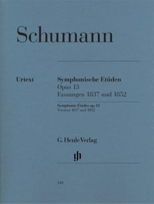 SCHUMANN - Symphonic Studies Opus 13, versions 1837 and 1852 - Sheet Music - di-arezzo.com