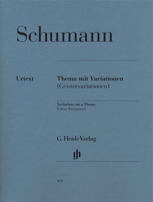 SCHUMANN - Variations sur un thème Geistervariationen. - Partition - di-arezzo.fr