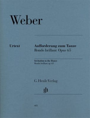 Carl Maria von Weber - The Invitation to Dance - Rondo Brillant in E flat major, Opus 65 - Sheet Music - di-arezzo.co.uk