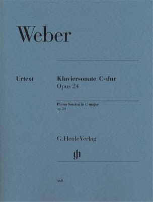 Carl Maria von Weber - Sonate pour piano en Do Majeur Opus 24 - Partition - di-arezzo.fr