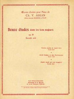 Charles Henri Valentin Aîné Alkan - 12 Etudes Dans les Tons Majeurs Opus 35 Volume 2 - Partition - di-arezzo.fr
