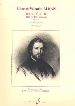 Charles Henri Valentin Aîné Alkan - 12 Etudes Dans les Tons Mineurs Opus 39 Volume 2 - Partition - di-arezzo.fr