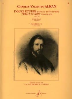 Charles Henri Valentin Aîné Alkan - 12 Etudes Dans les Tons Mineurs Opus 39 Volume 1 - Partition - di-arezzo.fr