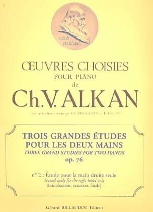 3 Grandes Etudes Opus 76-2 ALKAN Partition Piano - laflutedepan