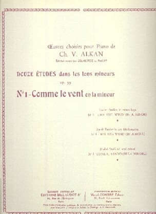 Charles Henri Valentin Aîné Alkan - Comme le Vent En la Mineur Op. 39-1 - Partition - di-arezzo.fr