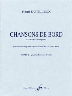 Henri Dutilleux - Border Songs Volume 2 - Sheet Music - di-arezzo.co.uk