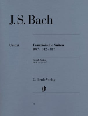 BACH - French Suites BWV 812-817 - Partition - di-arezzo.co.uk