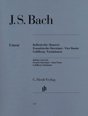 BACH - Italian Concerto, French Opening, Quatre Duos, Goldberg Variations - Sheet Music - di-arezzo.co.uk