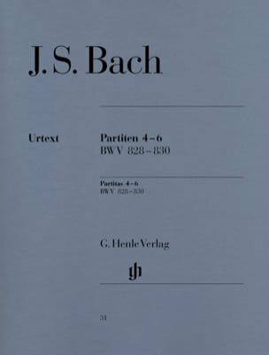 BACH - Partitas 4-6 BWV 828-830 - Sheet Music - di-arezzo.co.uk
