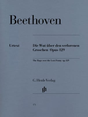 BEETHOVEN - Die Wut über den verlorenen groschen Opus 129 - Partition - di-arezzo.fr