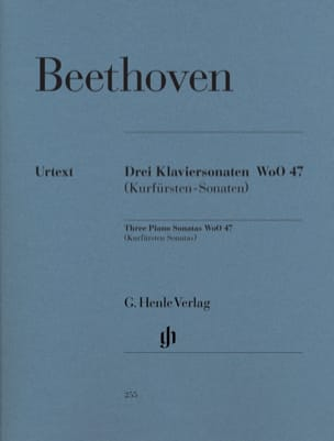 Ludwig van Beethoven - 3 Sonates pour piano WoO 47 (Kurfürstensonaten) - Partition - di-arezzo.fr