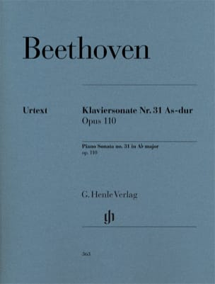 BEETHOVEN - Piano Sonata No. 31 in A flat major Opus 110 - Sheet Music - di-arezzo.co.uk