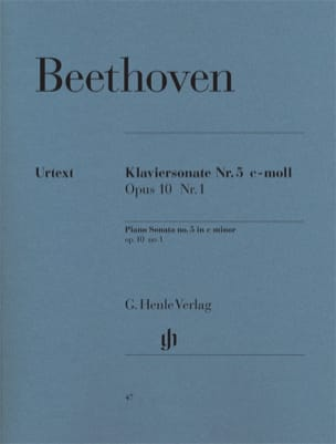 BEETHOVEN - Sonata para piano n.º 5 en do menor Opus 10 n.º 1 - Partitura - di-arezzo.es