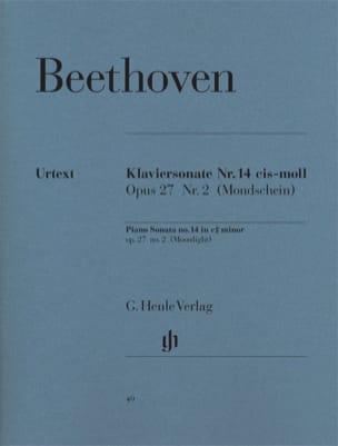 BEETHOVEN - Piano Sonata No. 14 in C sharp minor Opus 27 N ° 2 - Partition - di-arezzo.co.uk