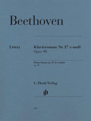 BEETHOVEN - Sonate pour Piano n° 27 en mi mineur Opus 90 - Partition - di-arezzo.fr