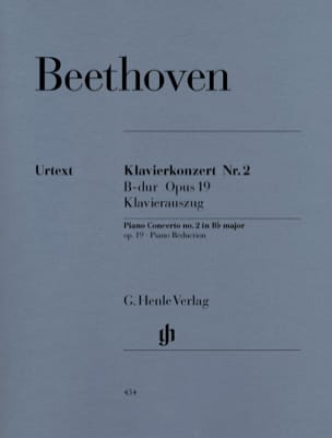BEETHOVEN - Concerto No. 2 in B flat major Opus 19 - Sheet Music - di-arezzo.co.uk