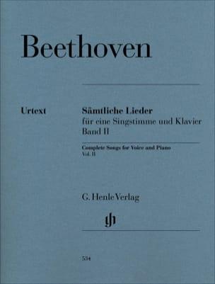 BEETHOVEN - Sämtliche lieder. Volume 2 - Partition - di-arezzo.fr