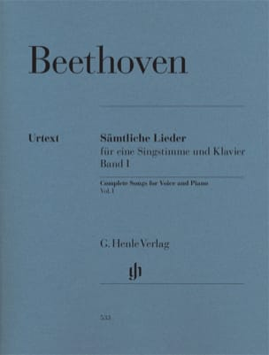 BEETHOVEN - Sämtliche lieder. Volume 1 - Partition - di-arezzo.fr