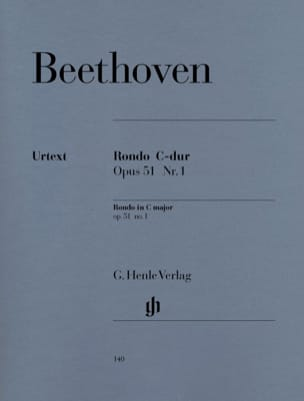 Rondo Do Majeur Opus 51-1 BEETHOVEN Partition Piano - laflutedepan